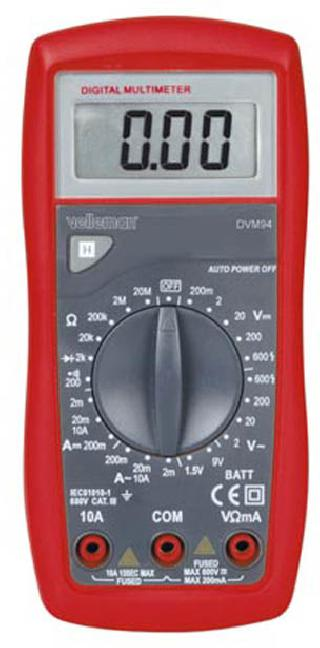 MULTIMETER DIGITAL 10A W/BASIC CATIIII DIODE/BATT/VOLT/AMP/RES