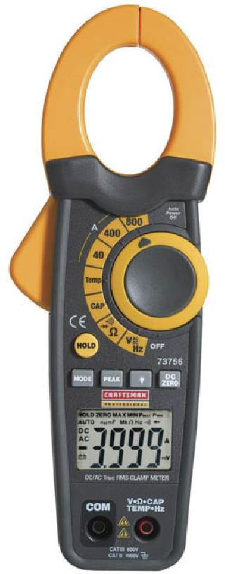 MULTIMETER DIGITAL CLAMP AC/DC TRMS 800A