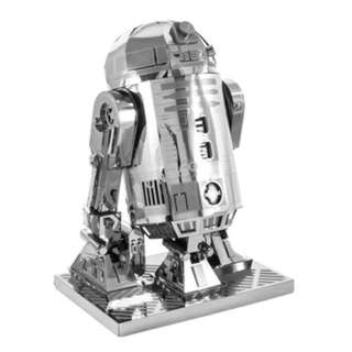 R2D2 TWO SHEET 3D METAL MODEL KT APPROX. 7 X 5 X 10IN (LXBXH)