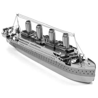TITANIC METAL EARTH 3D LASER CUT MODEL