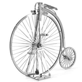 HIGH WHEEL BICYCLE 3D LASER CUT MODEL 2 SHEETS
