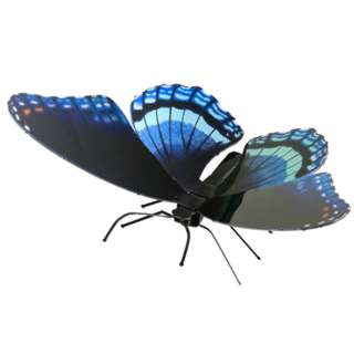 BUTTERFLY RED SPOTTED PURPLE METAL EARTH 3D LASER CUT MODEL