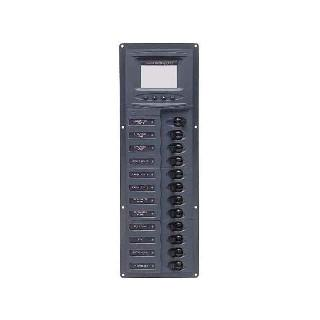 CIRCUIT BREAKER PANEL 12SP 12VDC WITH ANALOG METER