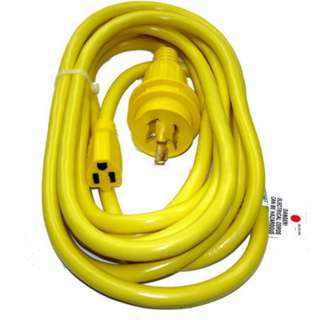 EXTENSION CORD 3/14 MARINE 20FT YELLOW STW 30 AMP 125V INPUT