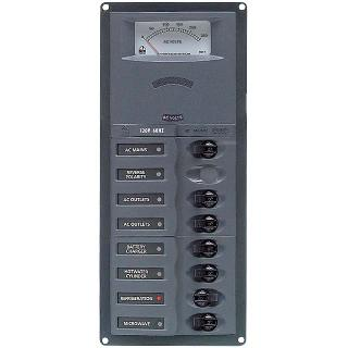 CIRCUIT BREAKER PANEL 6SP 1DP 230VAC WITH ANALOG METER