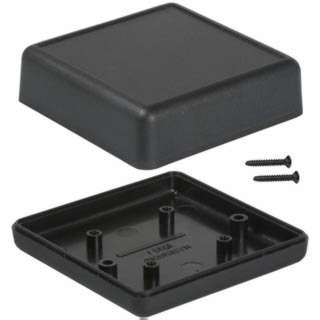 PROJECT BOX 2.6X2.6X1IN PLAS BLK 