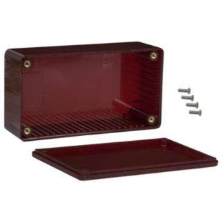 PROJECT BOX 4.7X2.6X1.6IN PLAS RED