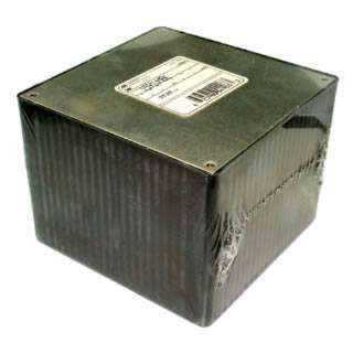 PROJECT BOX 4.7X4.7X3.5IN PLAS BLACK WITH METAL COVER