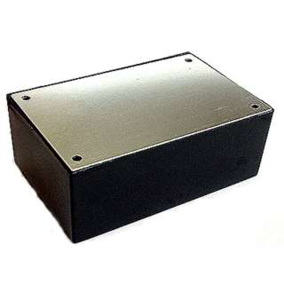 PROJECT BOX 5X2.5X2IN PLAS BLACK WITH ALUMINUM LID