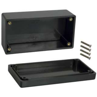 PROJECT BOX 5.1X2.5X2IN PLAS BLK 