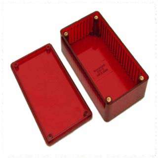 PROJECT BOX 5.9X3.2X2IN PLAS RED 