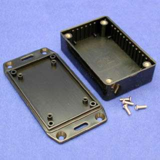 PROJECT BOX 3.4X2.2X1IN PLAS BLK WITH FLANGED LID