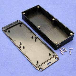 PROJECT BOX 6.5X2.8X1.1IN PLAS BLACK WITH FLANGED LID