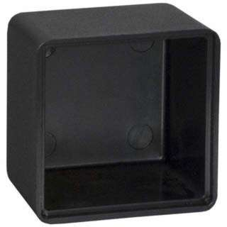 POTTING BOX 2.9X1.9X1.4IN BLACK 