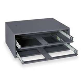 BOX METAL SLIDE RACK HOLDS TWO COMPARTMENT BOXES 11X15X6INCH
