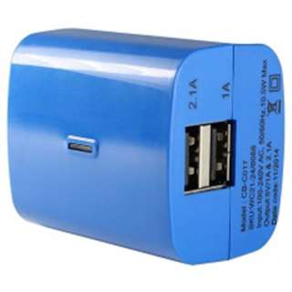 USB WALL CHARGER DUAL 5VDC@2.1A 5VDC@1A IP:120VAC ASSORTED COLOR
