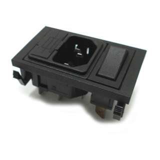 AC PLUG 3POS 10A 250V W/SWITCH AND FUSE HOLDER QT CHMT MOUNT