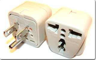 TRAVEL ADAPTER 3P N-AMERICA PLUG TO UNIVERSAL JACK W/GROUND WHITE