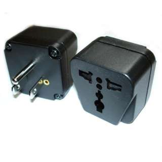 TRAVEL ADAPTER 3P N-AMERICA PLUG TO UNIVERSAL JACK W/GROUND BLACK