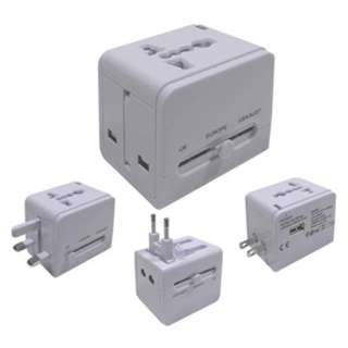 TRAVEL ADAPTER UNIVERSAL W/USB 3 IN 1 SET