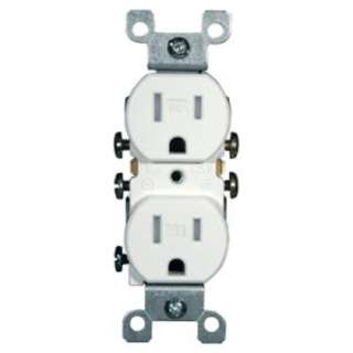 ELECTRICAL RECEPTACLE 2POS 15A 125V INSERT FOR WALLPLATE WHITE