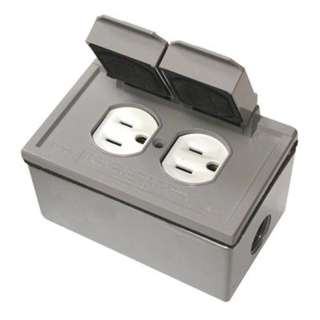 ELECTRICAL RECEPTACLE 2POS 15A 125V WITH WALLPLATE WP GRAY KIT