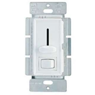 DIMMER SLIDE 120V 600W SINGLE POLE WALLPLATE WHT DECORA