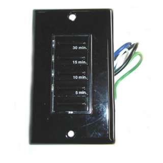 TIMER ELECTRONIC SWITCH 20A W/4 PRESET 5-10-15-30 MINUTE BLK
