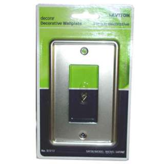 WALL PLATE DECORA ELECT 1POS MET SATIN NICKEL
