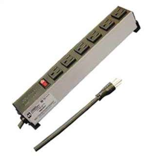 POWER BAR 6 O/LET INDUSTRIAL 6FT POWER SWITCH AND PILOT LIGHT