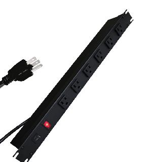 POWER BAR 6 O/LET 19INCH 6F RACK MOUNT W/LIT SWITCH 15A CIRCUIT B