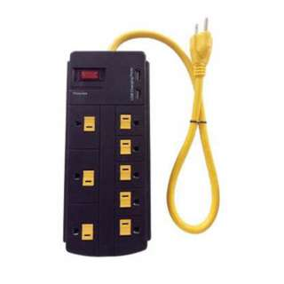 POWER BAR 8 O/LET SURGE PROTECT W/2 USB PORT@2.1A 2FT  300 JOULE