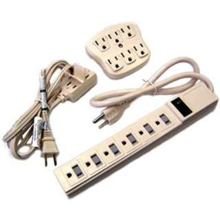 POWER BAR 6 O/LET WALL ADAPTER AND 6FT EXTENSION CORD
