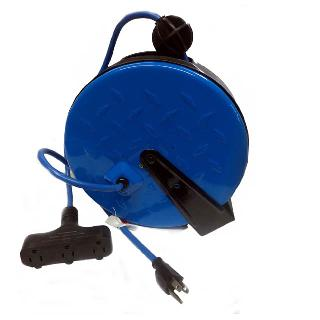POWER BAR 3 O/LET INDOOR 16AWG RETRACTABLE W/REEL 30FT 10A 125V