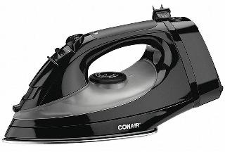 STEAM IRON WITH RETRACTABLE CORD AUTO SHUT-OFF BLACK