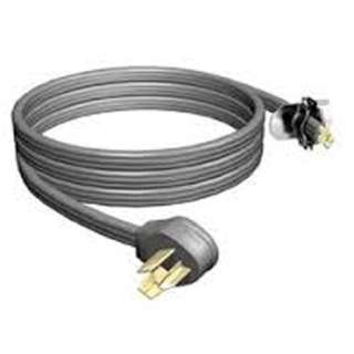 INST CORD 3/10 4FT 250V 30A SRDT FLAT GREY FOR GAS DRYER/RANGE