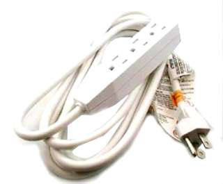 EXTENSION CORD 3/16 15FT 3OUT WHT SJT INDOOR HEAVY DUTY