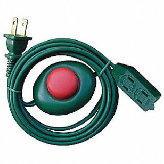 EXTENSION CORD 2/16 9FT W/FOOT SWITCH GREEN 13A 125V 1625W