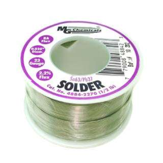 SOLDER WIRE 63/37 REGULAR 1/2LB 0.025IN(23AWG) ROSIN FLUX 2.2%