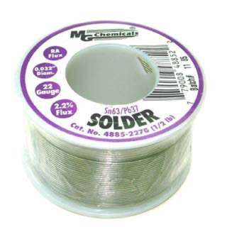 SOLDER WIRE 63/37 REGULAR 1/2LB 22AWG 0.032IN RA CORE