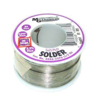 SOLDER WIRE 63/37 REGULAR 1/2LB 20AWG 0.040IN RA CORE