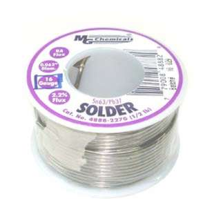 SOLDER WIRE 63/37 REGULAR 1/2LB 16AWG 0.062IN RA CORE
