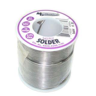 SOLDER WIRE 63/37 REGULAR 1LB 16AWG 0.062IN RA CORE