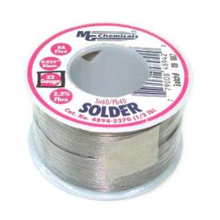 SOLDER WIRE 60/40 REGULAR 1/2LB 23AWG 0.025IN RA CORE