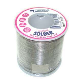 SOLDER WIRE 60/40 REGULAR 1LB 23AWG 0.025IN RA CORE