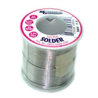 SOLDER WIRE 60/40 REGULAR 1LB 22AWG 0.032IN RA CORE