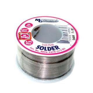 SOLDER WIRE 60/40 REGULAR 1/2LB 20AWG 0.04IN RA CORE