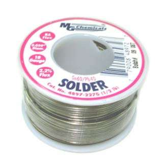 SOLDER WIRE 60/40 REGULAR 1/2LB 18AWG 0.05IN RA CORE