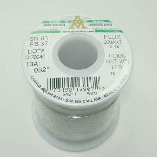 SOLDER WIRE 63/37 NO CLEAN 1LB GN GREEN ROSINCORE 2% 0.032