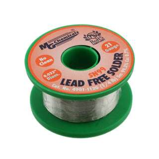SOLDER WIRE LEAD FREE 1/4LB 21AWG 0.032IN SN:99.3% CU:0.7%